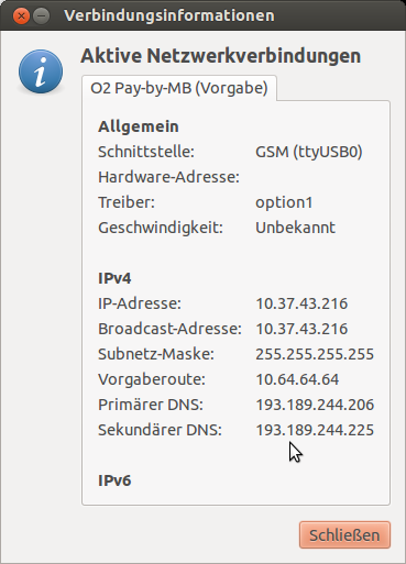 DNS-Server UMTS
